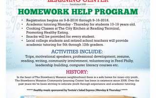 Strawberry Mansion Learning Center Flyer-2016a